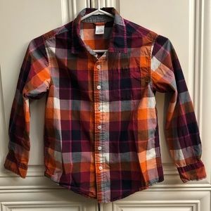Gymboree plaid boys dress shirt l/s